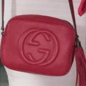 Red signature Gucci bag